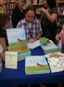 My head was down a lot as I signed books!