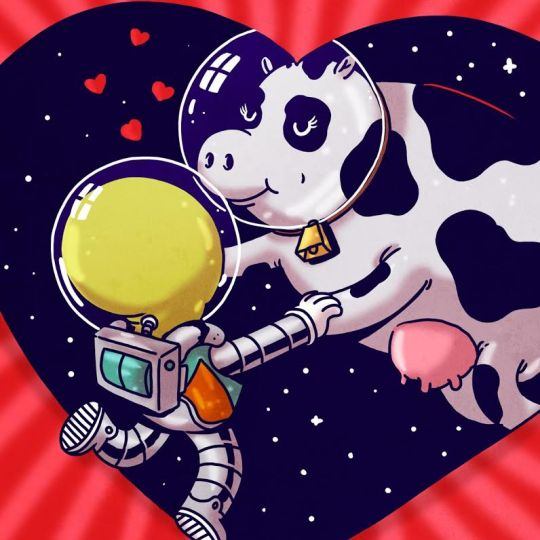 space love alien cow